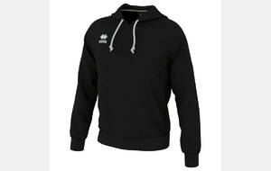 Sweat capuche Warren noir avec logo club
